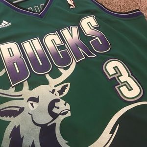8834372f3f0 adidas Shirts | Nba Milwaukee Bucks Brandon Jennings Jersey Size L ...